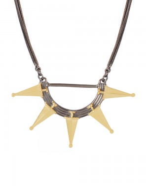 Buy STUNNING NECKLACE IN GOLDEN AND BLACK FINISH Online