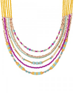 Buy STUNNING MULTILAYERED NECKLACE ADORNED WITH COLORFUL BEADS Online