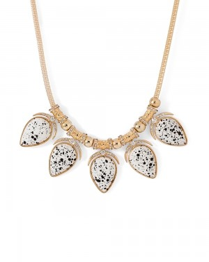 Buy  WHITE STONES AND CZ EMBELLISHED ELEGANT NECKLACE Online