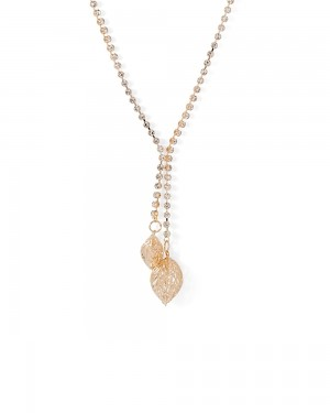 Buy  LEAFY THEMED CZ ADORNED STUNNING NECKLACE Online