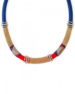 Buy  MULTICOLOURED BOLD STATEMENT NECK-PIECE W Online