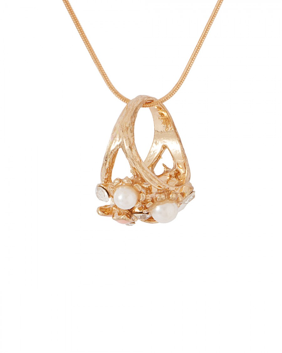 Buy  GOLD TONE ATTRACTIVE RING PENDANT WITH CHAIN Online