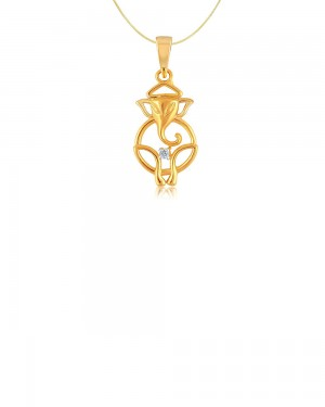 Buy  REAL DIAMOND GOLD PLATED STERLING SILVER PENDANT WITH SILVER CHAIN Online