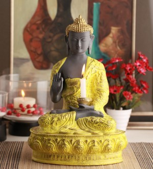 Buy  @ Home Yellow Polyresin Religious Idol Online