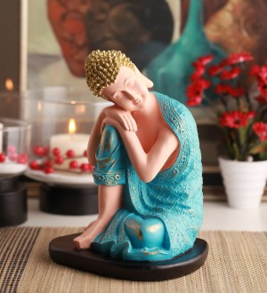 Buy  @ Home Blue Polyresin Religious Idol Online