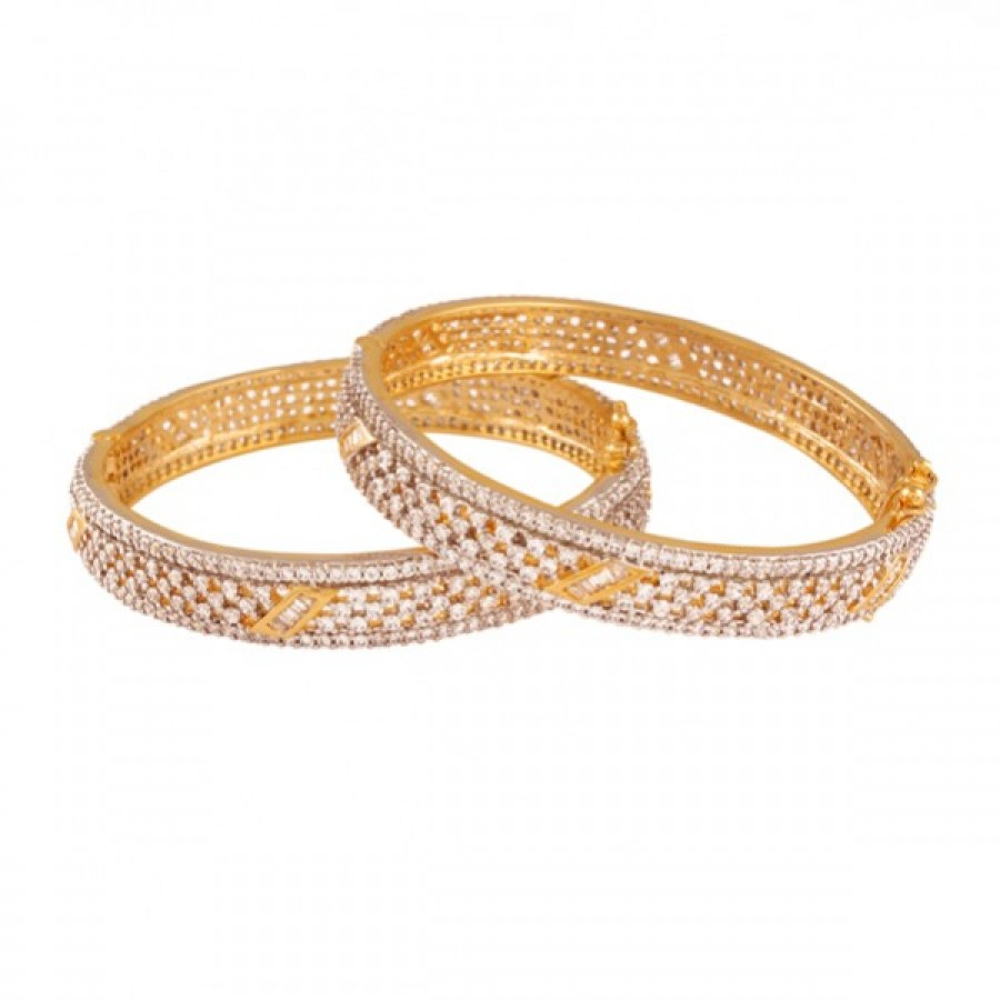 Buy  Timeless Beauty Gold plated ad bangle Online