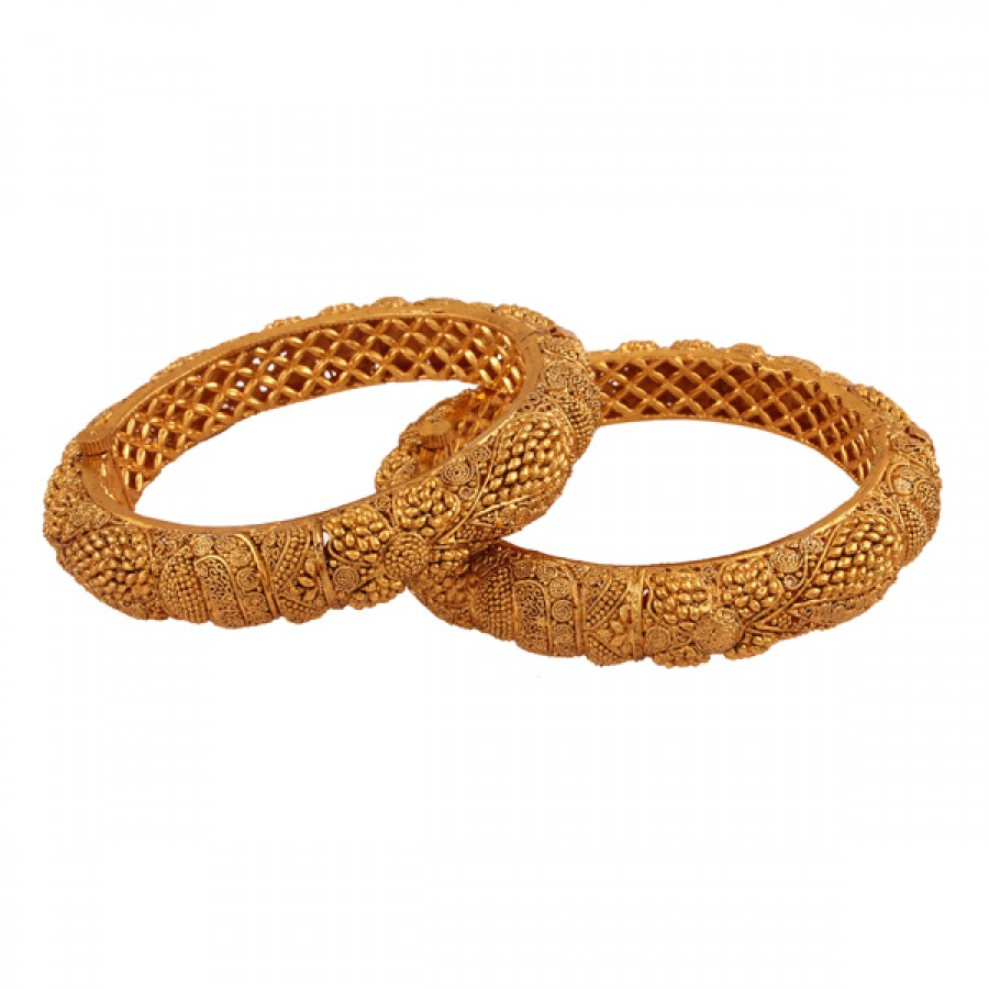 Buy  Style icon Gold plated antique bangle Online