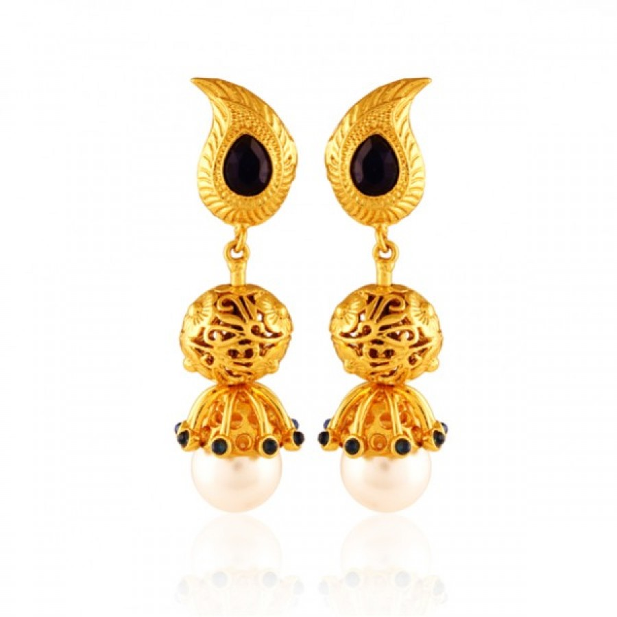 Buy  Vondrous Gold plated antique jhumka Online