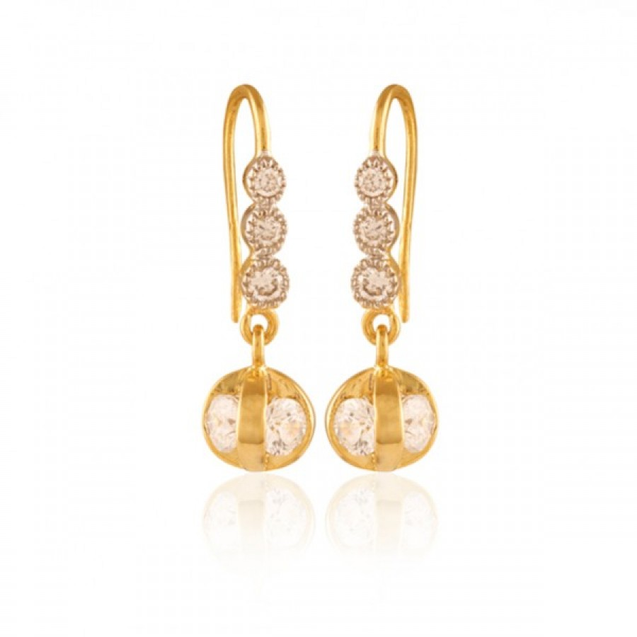 Buy  Embellished Gold plated American Diamond earring Online