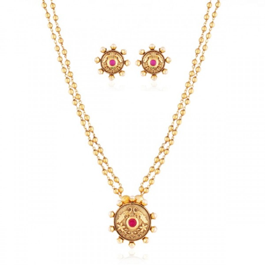 Buy High Class gold plated antique set Online