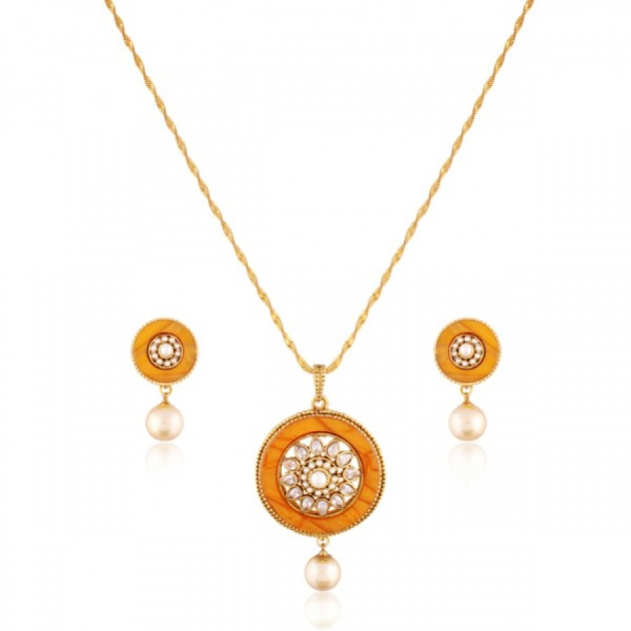 Buy Fabiana Gold plated antique set Online