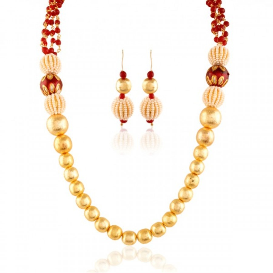 Buy Vondrous Gold plated contemporary set Online