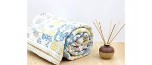 Buy  Pulpy Pineapples Single Bed Gudri  Cotton Kantha Quilt Online
