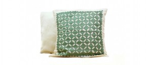Buy  Flowers and Petals  Silk Cushion Cover  Light Green Online
