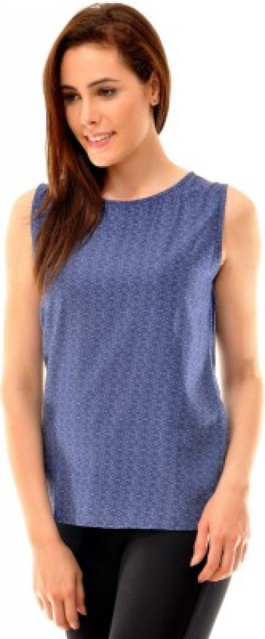 Buy  Indiwagon Casual Sleeveless Printed Women s Blue Top Online