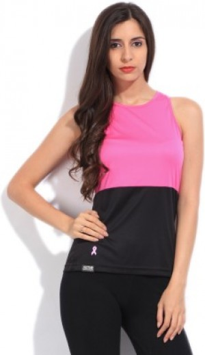Buy  Adidas Sports Sleeveless Solid Womens Black Pink Top Online