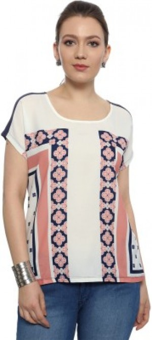 Buy  Van Heusen Casual Short Sleeve Printed Women s Blue Top Online