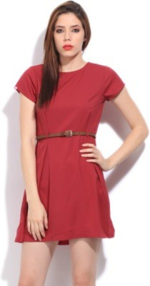 Buy  United Colors of Benetton Women s Pink Dress Online