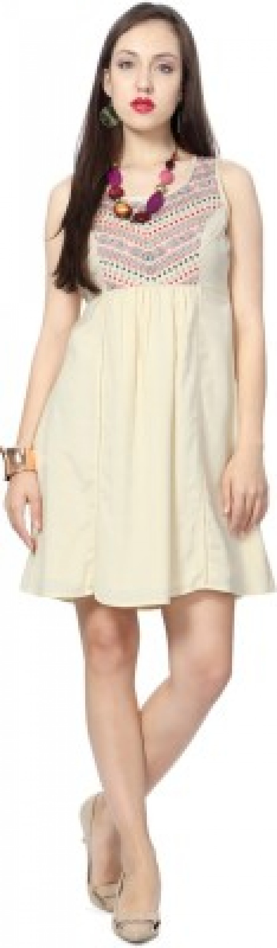 Buy  People Women s Gathered White Dress Online