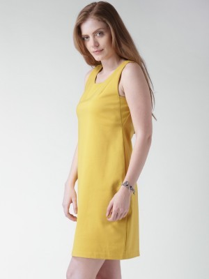 Buy  Mast & Harbour Women s A line Yellow Dress Online