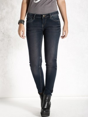 Buy Roadster Skinny Fit Womens Blue Jeans Online