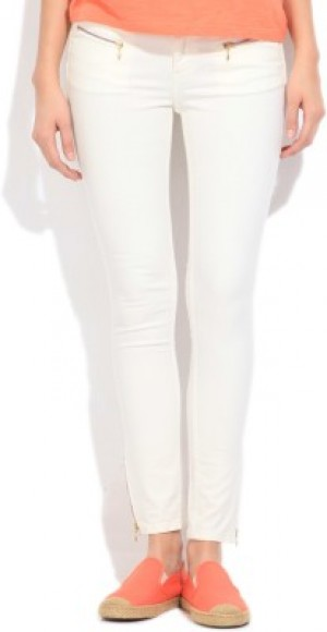 Buy Elle Skinny Fit Fit Womens White Jeans Online