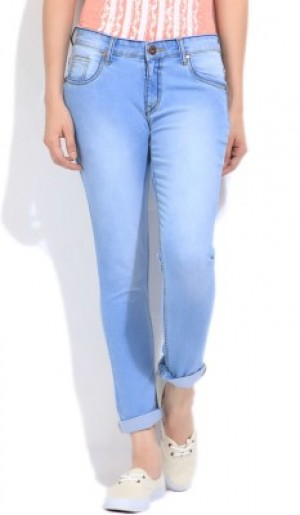 Buy High Star Slim Fit Fit Womens Blue Jeans Online