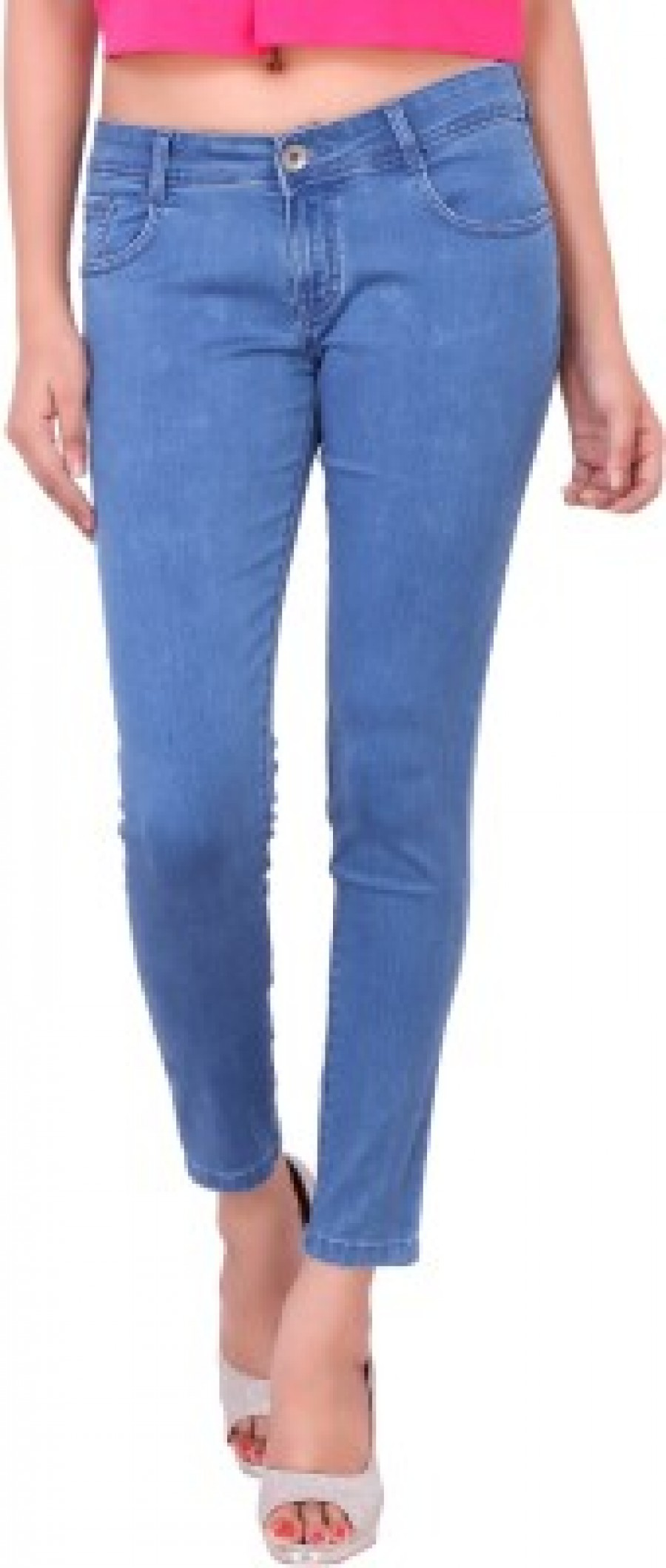 Buy Airways Ankle Fit Fit Womens Light Blue Jeans Online