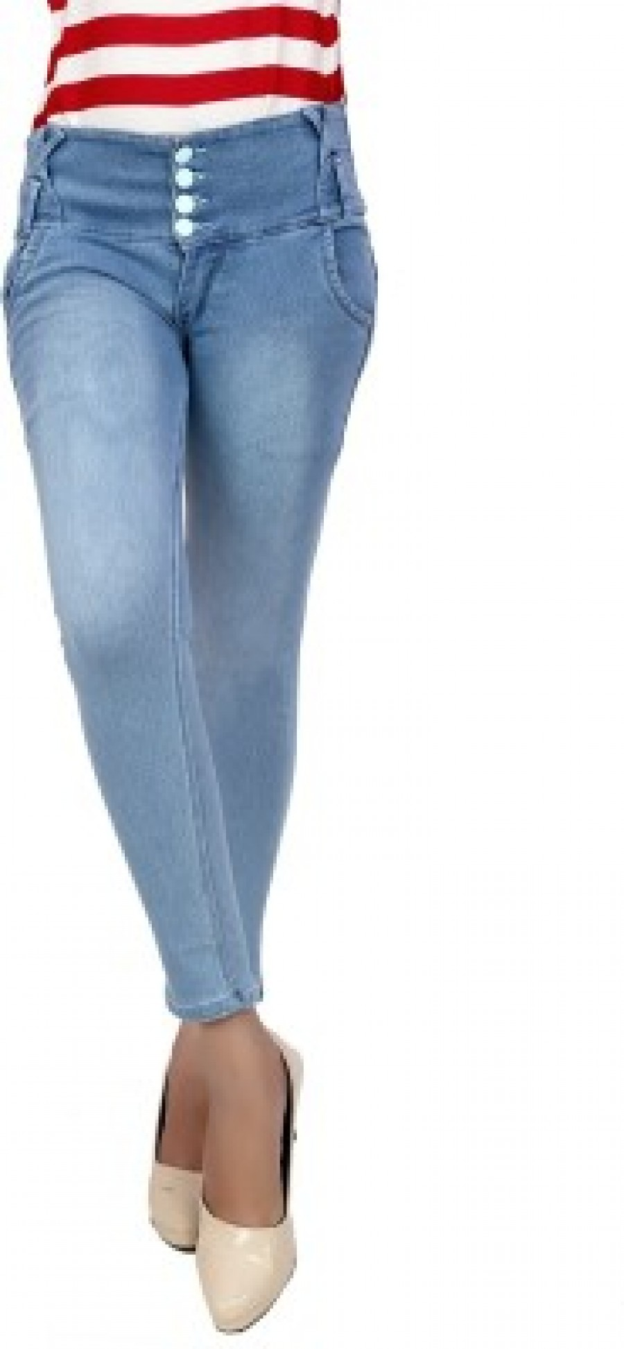 Exclusive knight vogue skinny Fit Womens Light Blue Jeans | 524304
