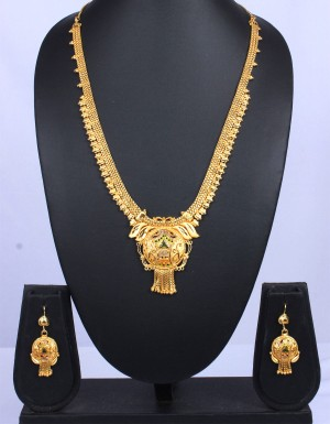 Buy Traditional Gold ChainNecklace Pendant Set Online