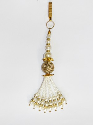 Buy Gold Diamante Pearl Strings Stones Challa Waist Key Chain Satka Online