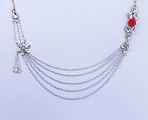 Buy Pearl Strands Red Rose Diamante Body Chain/ Challa/ Belly Hips Chain Waistbelt/ Kamarpatta Online