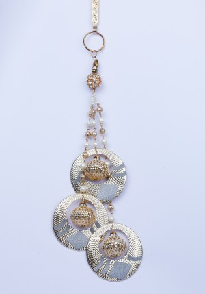 Buy Traditional Silver Gold Diamante Pearl Chain Challa/Waist Key Chain/Satka Online