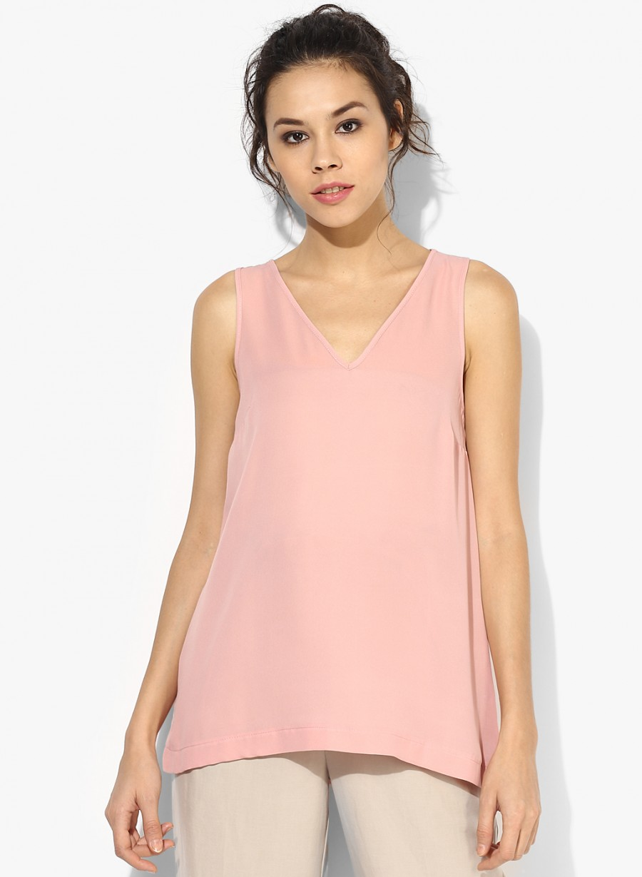 Buy Dorothy Perkins Blush V Neck Shell Top Online