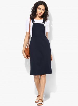 Buy Dorothy Perkins Navy Dungaree Dress Online