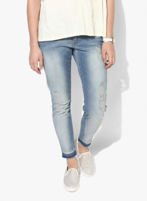 Buy Only Blue Washed Mid Rise Slim Jeans Online