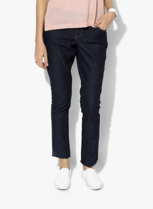 Buy Dorothy Perkins Navy Blue Solid Jeans Online