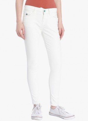 Buy Only White Mid Rise Skinny Jeans Online