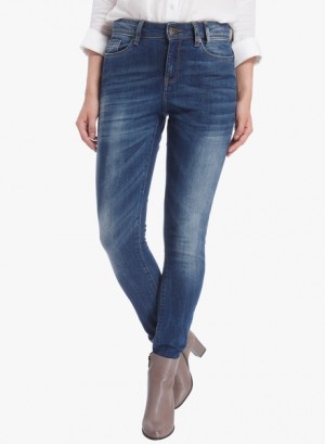 Buy Vero Moda Blue Washed Mid Rise Slim Jeans Online