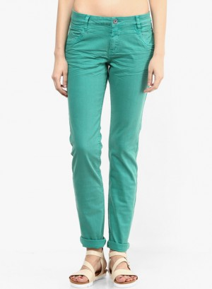 Buy s Oliver Green Solid Jeans Online