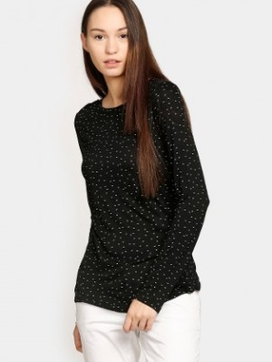 Buy Vero Moda Women Black Printed Regular Fit Top Online