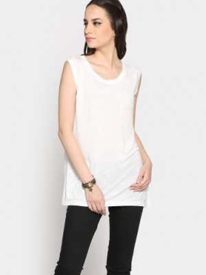 Buy abof Women Ivory White Regular Fit Top Online