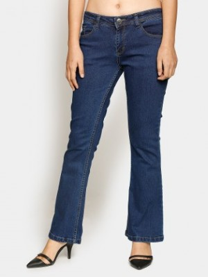 Buy abof Women Blue Regular Fit Bootcut Jeans Online