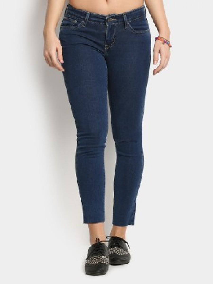 Buy Levis Women Dark Blue Skinny Fit Jeans Online