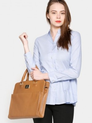 Buy AND Women Blue Regular Fit Shirt Online