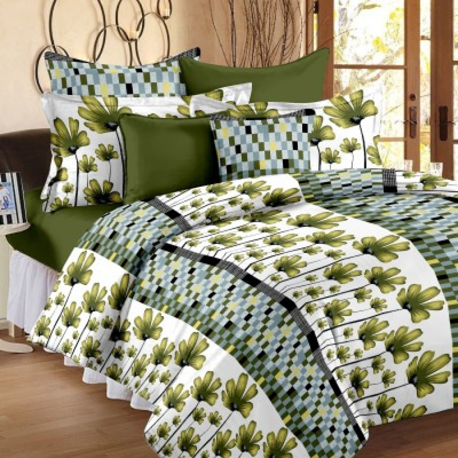 Buy Story  Home Cotton Floral Double Bedsheet Online