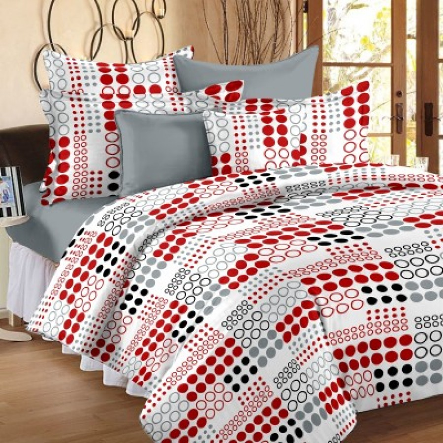 Buy Story  Home Cotton Abstract Double Bedsheet Online