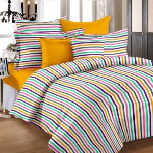Buy Story  Home Cotton Striped Single Bedsheet Online
