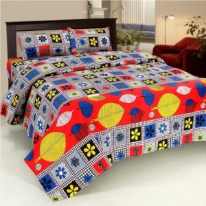 Buy Bed & Bath Cotton Floral Queen sized Double Bedsheet Online