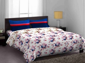 Buy Stellar Home Cotton Floral Queen sized Double Bedsheet Online